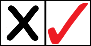 Cross and Checkmark copy